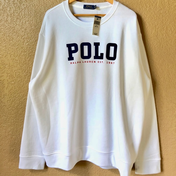 795dff38dc347 NWT Polo Ralph Lauren Spell Out Logo Crewneck NWT